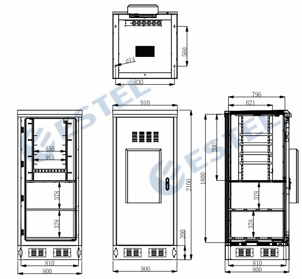 IP55 Outdoor Telecom Enclosure 0